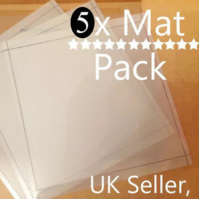 Silhouette Cameo Value cutting mat x5 Pack! Why spend ££ on mats?? Carrier sheet