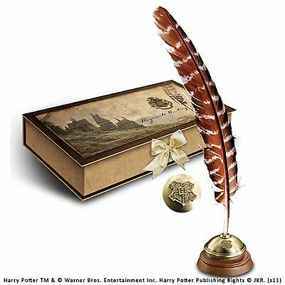 Official Harry Potter Hogwarts Writing Quill Feather Pen Boxed With Ink Noble