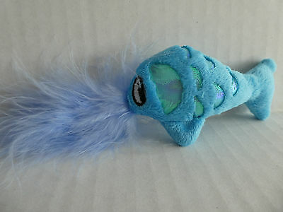 Cat Kitten Toy, Crinkle Fish with Catnip and Feathers