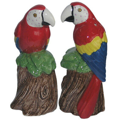 Collectable Novelty Salt & Pepper Shakers Set MACAW PARROTS Set FREEPOST NEW