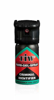TIW Farb-Gel-Spray 40 ml, alternativ zu Pfefferspray (27,47 €/100 ml)