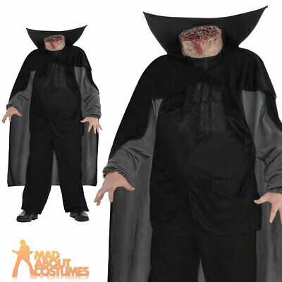 Adult Headless Horseman Costume Mens Beheaded Halloween Fancy Dress Outfit