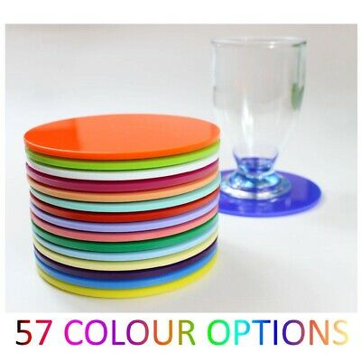 Plastic Coasters Acrylic Coasters Colour Kitchen, Dining Table Round Mix & Match