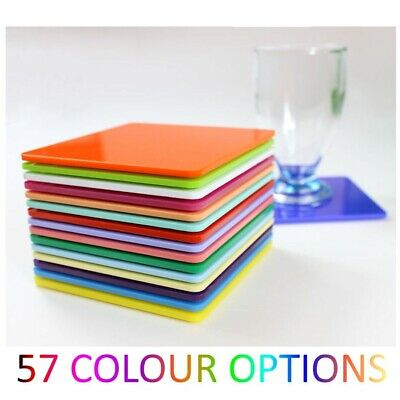 Plastic Coaster Acrylic Coasters Colour Kitchen, Dining Table Square Mix & Match