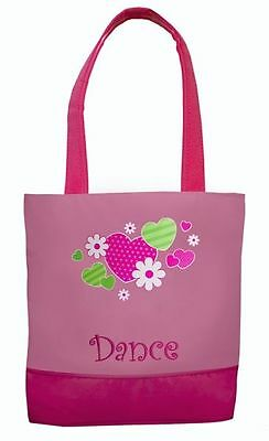 Girl's Dance Tote Bag ~ Hearts & Flowers ~ New ~ # 856
