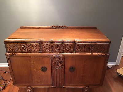 Vintage Buffet Hand Carved-Extremely Beautiful