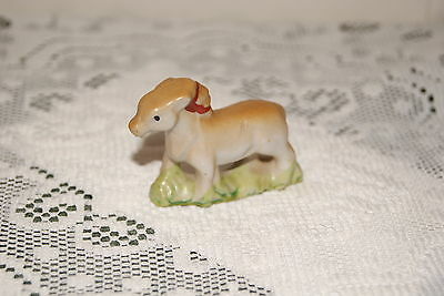 Vintage...ceramic...mini...pony....white & Brown.....figurine...occupied...japan