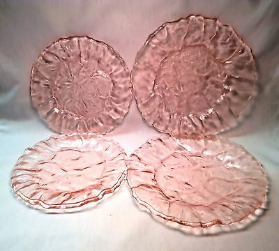 Morgantown Pink Crinkle Dinner Plates (3) available
