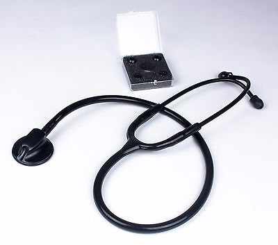 Brand New Premium Master Lite Stethoscope All Black Edition With Extra Ear Tips