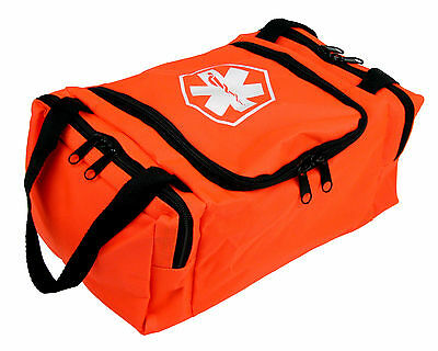 "Dixie Ems First Responder EMT Jump Trauma Bag - Orange 10.5""x 5"" x 8"""