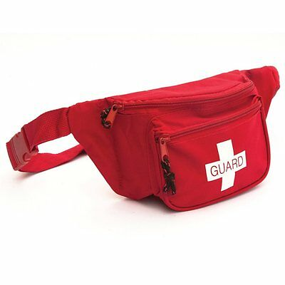 Ever Ready Lifeguard First Aid Fanny Pack w/ Guard Logo- RED