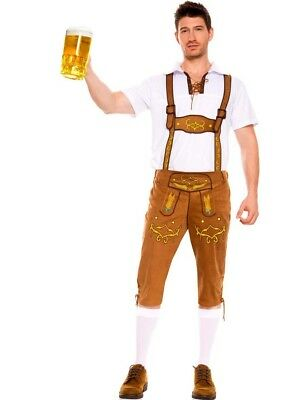 Menu0027s Oktoberfest Beer Bavarian Lederhosen Scottish Halloween Costume  sc 1 st  PicClick & MENu0027S OKTOBERFEST BEER Bavarian Lederhosen Scottish Halloween ...
