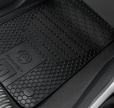 Genuine Holden Colorado My17 Front Rear All Weather Floor Mat Set Rubber Mats