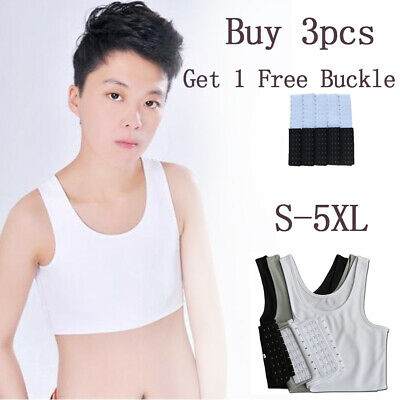 Women Buckle FTM Short Chest Breast Binder Lesbian Trans Tomboy Plus size