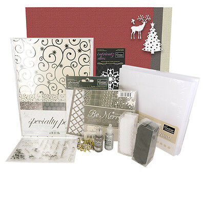 CHRISTMAS CARD MAKING KIT WITH INSTRUCTIONS - BE MERRY & CLASSIC (6 x 6)