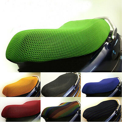 Fits Motorcycle 3D mesh fabric Breathable Mesh Seat Cover Cushion New