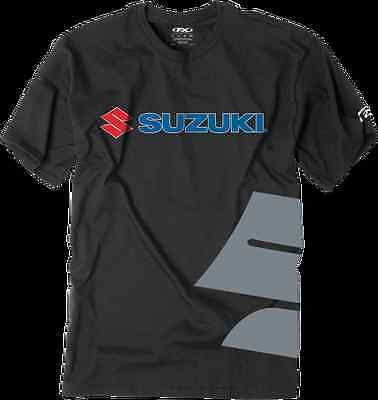 Factory Effex Mens Suzuki Big S Tee Shirt Black 2XL
