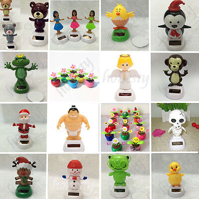 36 Types Cute Solar Powered Dancing Toys For Table Desk Home Car Xmas Decor