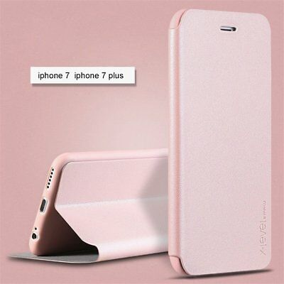 SLIM!  Genuine PU Leather Flip Wallet Case Cover for Apple iPhone 7 plus 6s 8 5s
