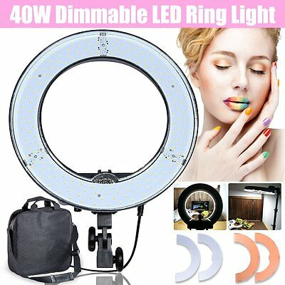 """AU Studio 13.5"""" / 34cm 40W 3600LM 5500K Dimmable LED Video Photo Ring Light Lamp"""