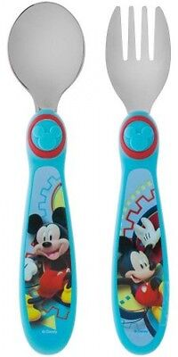 The First Years Disney Mickey Mouse Clubhouse Fork and Spoon, BPA-Free, 1ct,