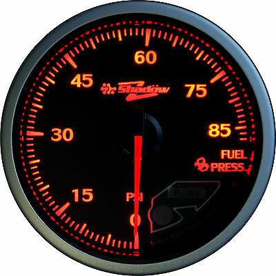 Shadow Classic Racing Fuel Pressure Gauge 60mm Clear Face/White Face