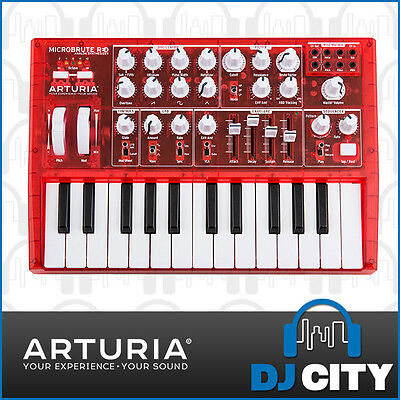 Arturia MicroBrute Analogue Synthesiser Limited Edition Transparent Red