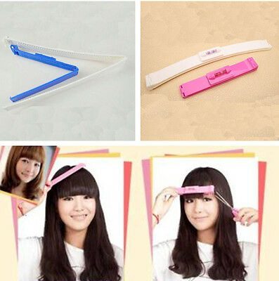 Hairdressing Hair Bangs Trim Clips Comb Set Cutting Scissors Tool Hairstyle US