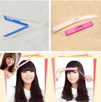 Hairdressing Hair Bangs Trim Clips Comb Set Cutting Scissors Tool Hairstyle AU