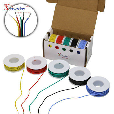 20AWG- 30AWG Silicone Wire color Mix box Electrical Wire Line Airline Copper PCB