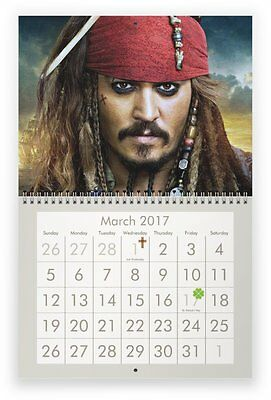 JOHNNY DEPP 2017 Wall Calendar