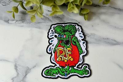 RAT FINK Hot Rod Car Detailer Bloodshot Sew Mouse Drugged Iron On Patch Patches