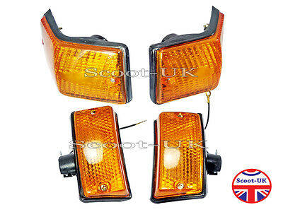Vespa Px125 Lml Front And Rear Indicator Blinkers Amber New P2902