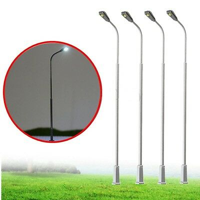 10Pcs High Quality Life Like Metal Led Lamp Post Street Light 10cm 6V