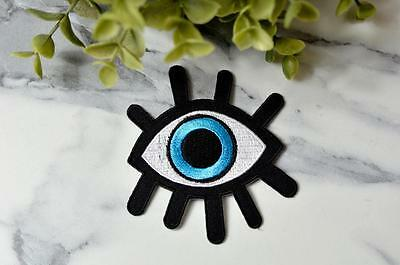 TURKISH BLUE EVIL EYE Karma Witch Skull Patches Patch Iron On Transfer Cloth