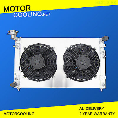 Fits Holden Commodore VT VX V6 3.8L 1997-2002 AT Aluminum Radiator + Fan Shroud