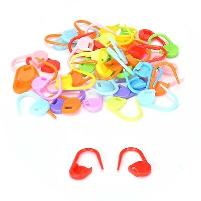 100pc Cute Knitting Craft Crochet Locking Stitch Chic Needle Clip Markers Holder