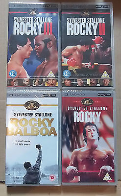 Rocky I, II, III, 1,2,3 and Rocky Balboa (New Sealed)(Sony PSP UMD Video) Free P