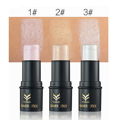3 Colors Highlighter Stick Shimmer Powder Cream Waterproof Cosmetic Makeup Tool