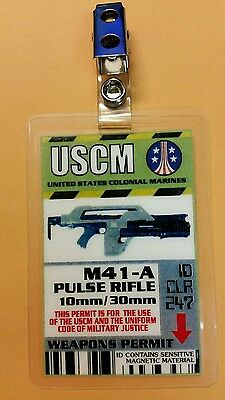 Aliens ID Badge-M41-A Pulse Rifle cosplay prop costume