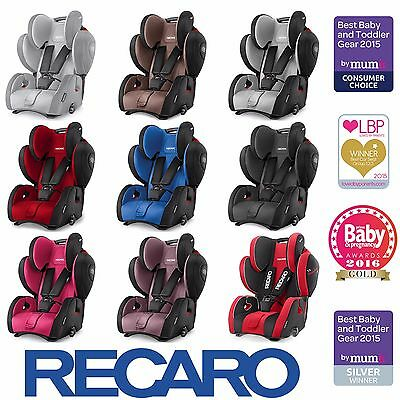 Brand New Recaro Young Sport Hero Group 123 Car Seat - 9 Colours Available
