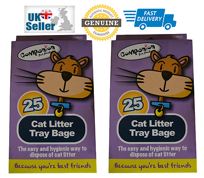 New Cat Litter Tray bags Liners Easy Pet Kitty Waste Disposal 25 Bags Per Pack