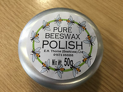 Pure Beeswax Polish, Min Weight 50g