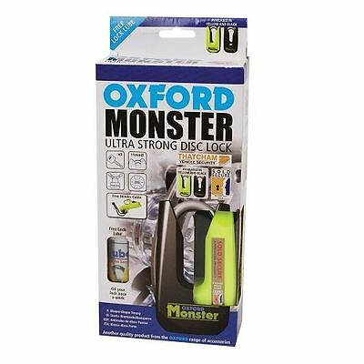 Oxford Monster Disc-Lock - Gold Series Yellow New