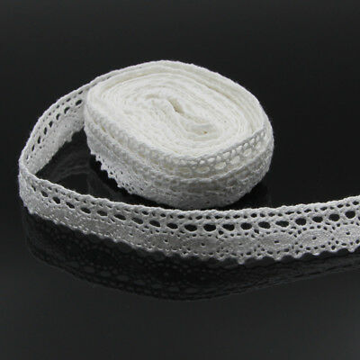 5 Meters Lace Trim Ribbon Crocheted Cotton Fabric Edge Applique DIY Sewing Craft