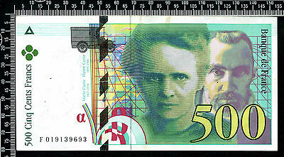 France : 500 Francs 1995 / Pierre et Marie Curie / (Franco de port)