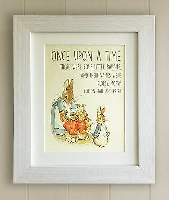 FRAMED Beatrix Potter Peter Rabbit Quote Print, Baby Shower/Nursery Picture Gift