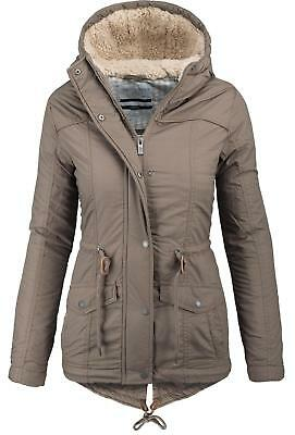 Urban Surface 2in1 warme Damen Winter Jacke Parka Mantel Teddyfell B293