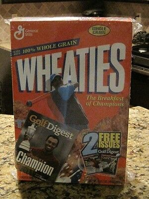 TIGER WOODS Wheaties Cereal with Golf Digest in sealed box
