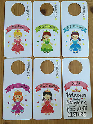 princess theme BABY WARDROBE DIVIDERS Newborn - 1yr closet organiser SHOWER GIFT